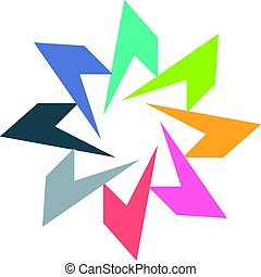 Colorful Star Symbol Vector Design
