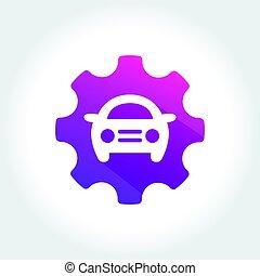 Tune Up Car Symbol - an amazing design of Tune Up Car Symbol