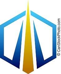 Financial Growth Concept inside hexagon shape