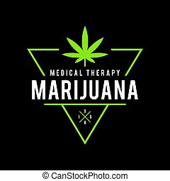 an amazing illustration of Vintage Marijuana label design, Cannabis Health and Medical therapy