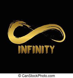 Infinity Symbol. Hand Drawn Logo Concept