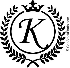 Kk K K Retro Vintage Black White Alphabet Letter Logo Kk K K