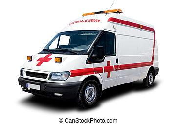 An Ambulance Isolated on White