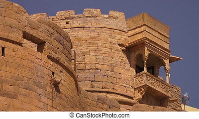 An ancient building in the Indian desert