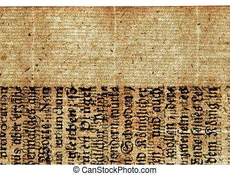 An ancient sheet