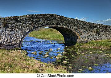 An ancient stone bridge