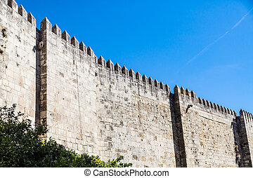 Ancient Stone Wall in Lisbon
