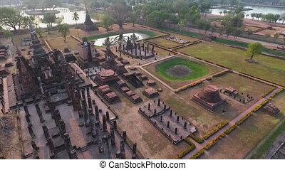 An ancient wat in Thailand