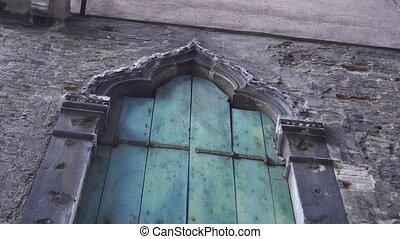 An ancient window of the Italian house
