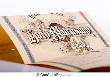 An Antique Marriage License - A vintage, antique marriage ...