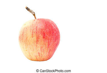 an apple on a white background
