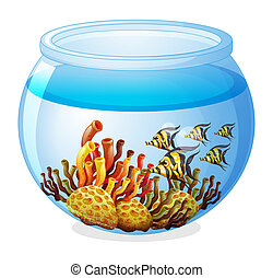 An aquarium with fishes