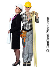 An architect and her carpenter.