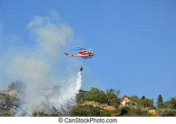 An arson attack on the mountains Prenestini of Castel San...