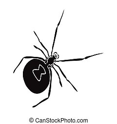 An arthropod bug is an insect. A spider, a predatory insect single icon in black style vector symbol stock isometric illustration web.