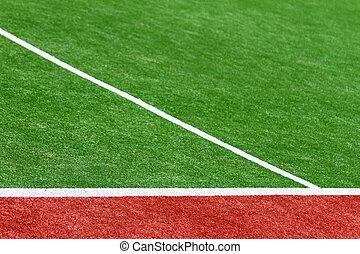 Artificial Turf - An Artificial Turf sportsfield detail...