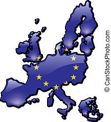 European Union - An artistic rendering of the European...