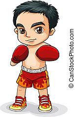 An Asian boxer