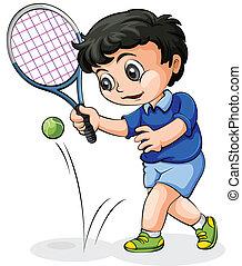 An Asian tennis player