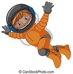 An astronaut on white background