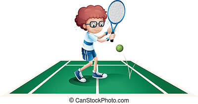 An athletic boy