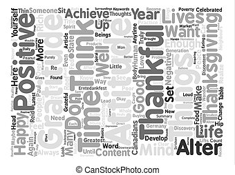 An Attitude of Gratitude text background word cloud concept