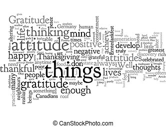 An Attitude of Gratitude text background wordcloud concept