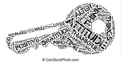 An Attitude of Gratitude Word Cloud Concept Text Background