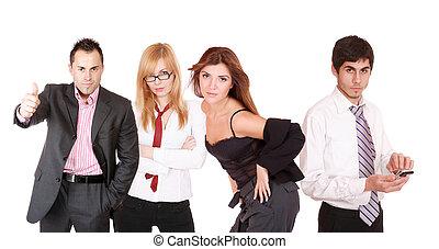 An attractive, business team