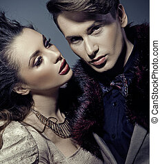 An attractive couple in close shoot - An attractive young...