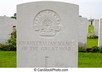 An Australian soldier of the great world war one.