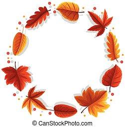 An autumn leaf frame