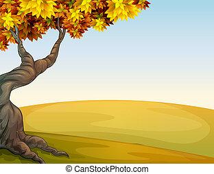 An autumn scenery - Illustration of an autumn scenery