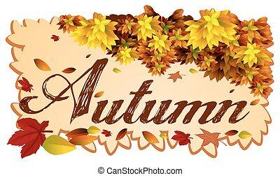 An Autumn template