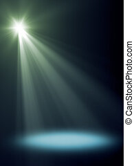 stage light - An background image with a blue stage light