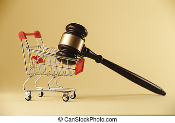 An concept image of shopping and law