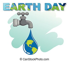 An earth day logo