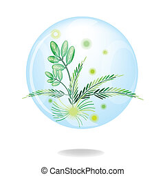 An Eco Green Friendly Environmental Conservation Button -...