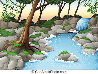 Illustration of an ecosystem