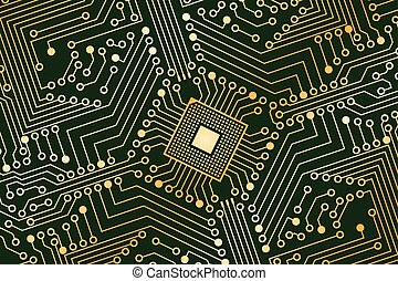 An electronic board. - The electronic board from the...