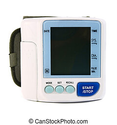 an electronic device reading blood pressure isolated on...