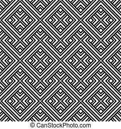 An elegant black and white, vector