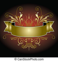 An elegant Christmas banner in reds and golds
