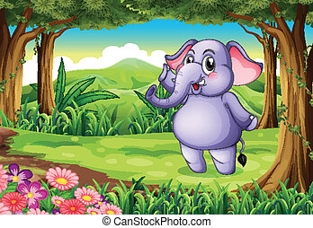 An elephant at the woods
