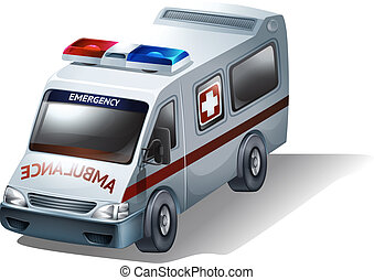 Illustration of an emergency vehicle on a white background