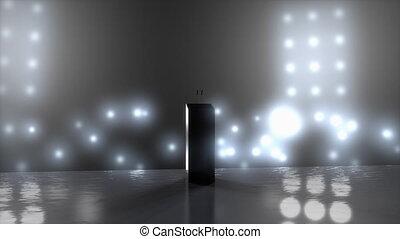 """Computer generated, An empty speech podium"""