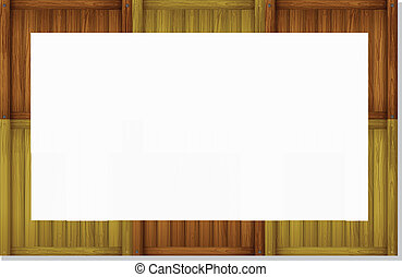 An empty board frame