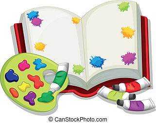 An empty book - Illustration of an empty book on a white ...