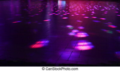 an empty dance floor - empty defocused dance floor...
