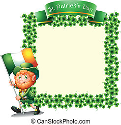 An empty frame for St. Patrick's day